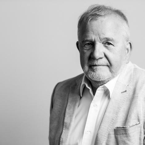 Rüdiger Safranski. Liest aus seiner noch unveröffentlichten Hölderlin-Biografie (erscheint im Herbst 2019). Bild: Guido Werner.
