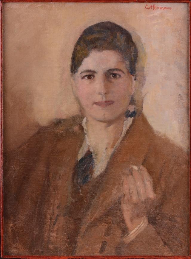 """Curt Herrmann: """"Porträt einer Dame mit Zigarette"""" (1893/95)."""