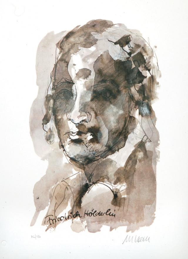 Armin Mueller-Stahl: Friedrich Hölderlin · 2013 · Farblithographie.