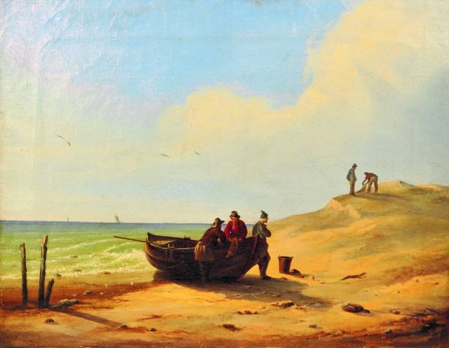 """Caspar David Friedrich: """"Fischer auf Rügen"""" (1804) Ölfarben/ Lwd."""